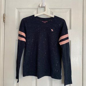 Abercrombie Kids Navy Sparkly Long Sleeve Top